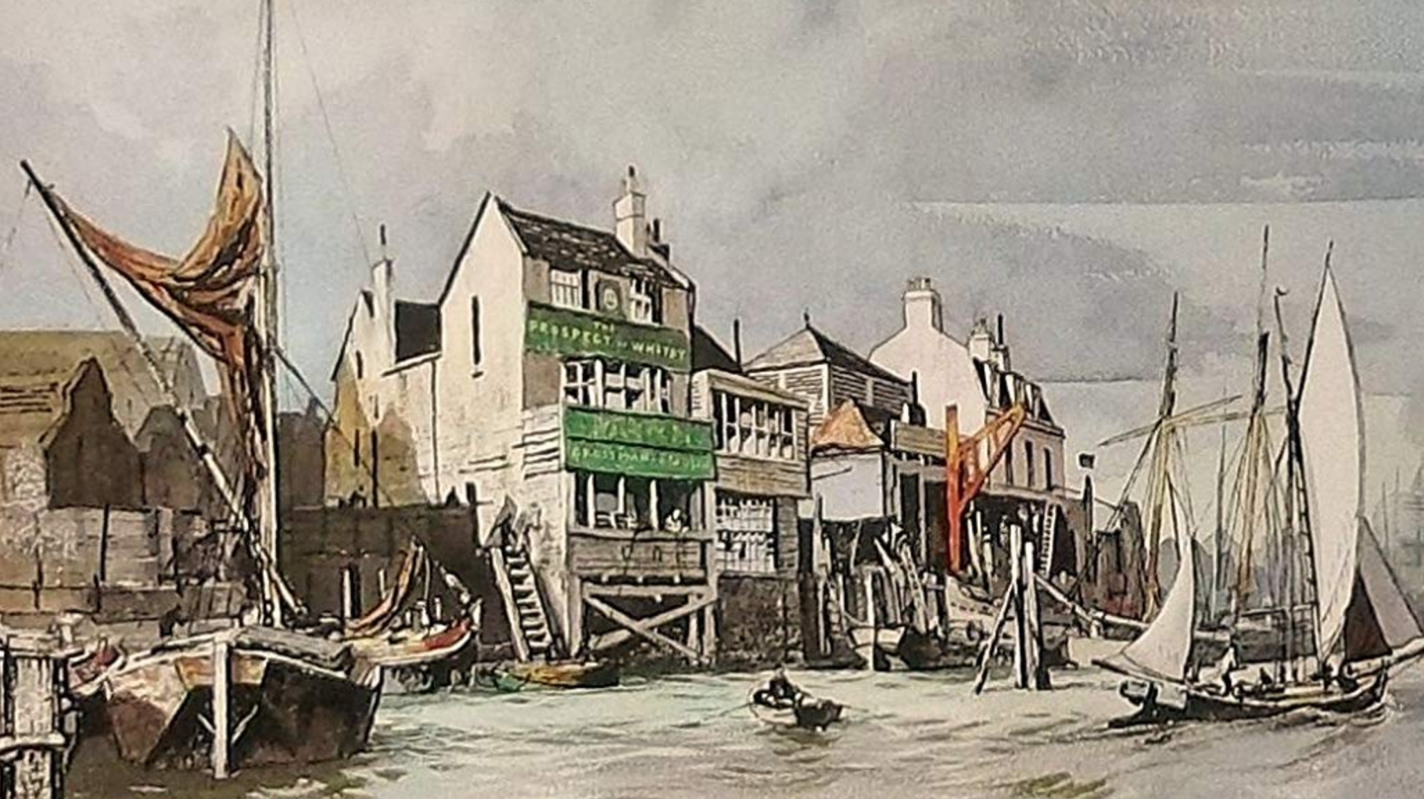 The Prospect Of Whitby Tavern On London S Riverside At Wapping Regency Romance The Crown Series Whitby