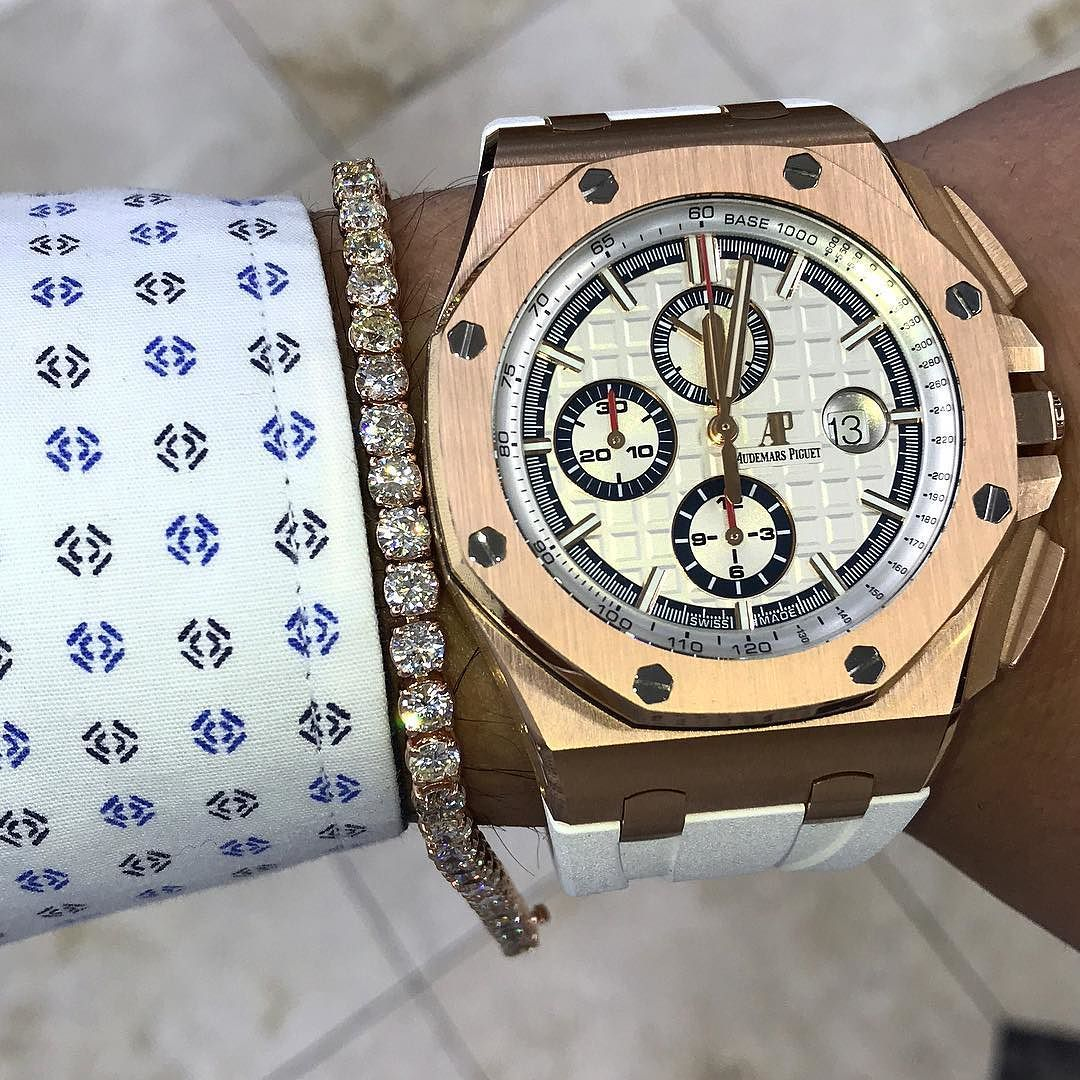 Audemars piguet rose gold should we iced out or just wear it with