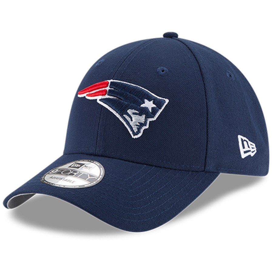 Men s New England Patriots New Era Navy The League 9FORTY Adjustable ... c12742141cf0