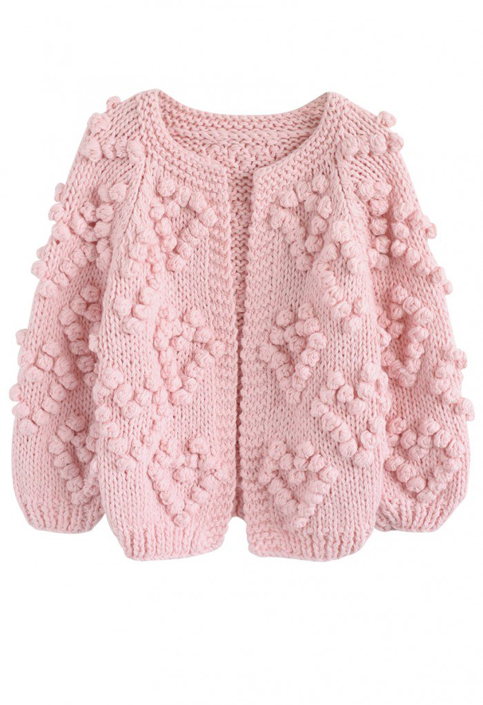 Knit Your Love Cardigan In Pink Fashion Knitting Unique Fashion