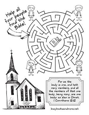They're Here... FREE Bible Activity Pages for Kids