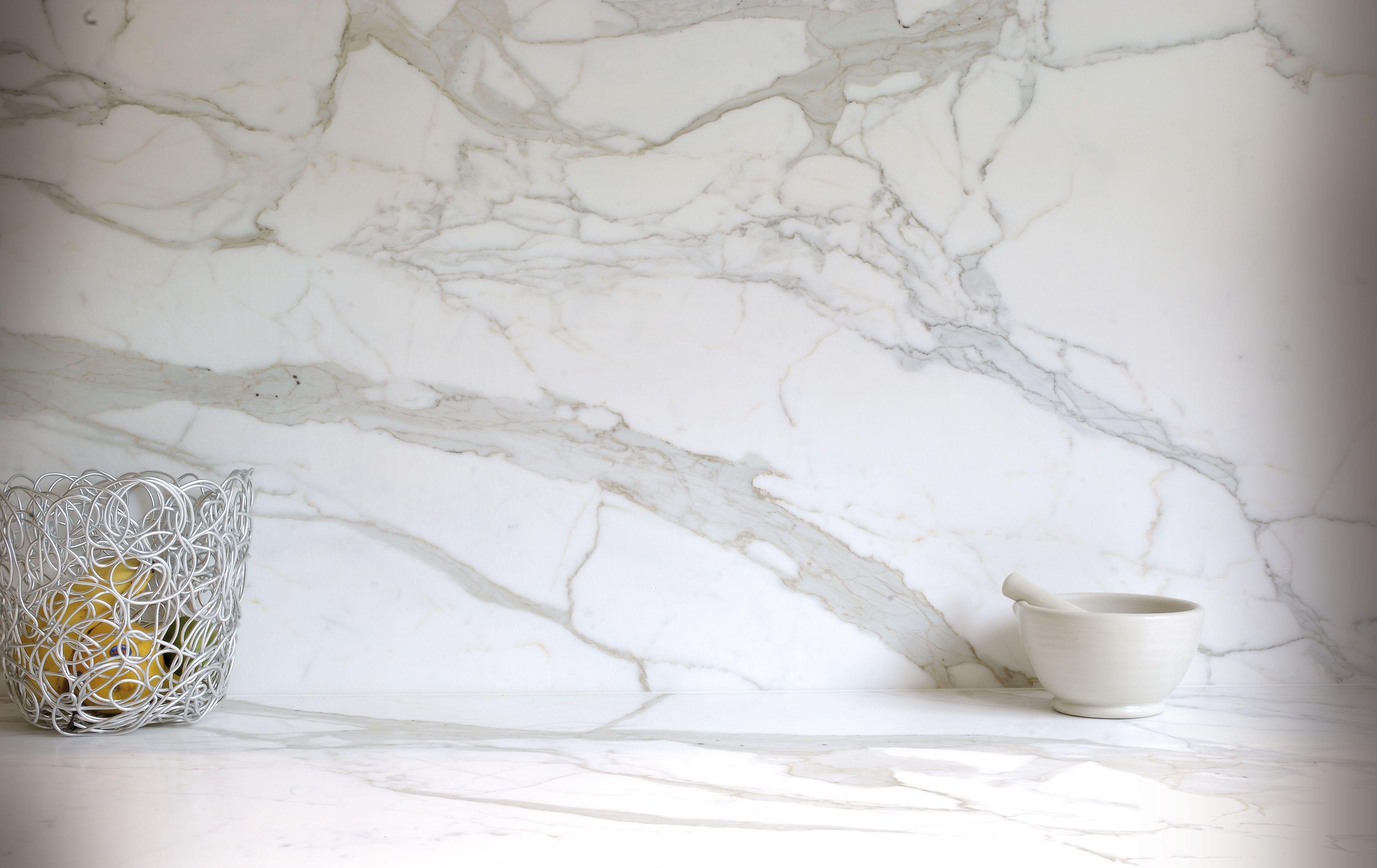 Carrara Marble Splashback Tile File Pinterest