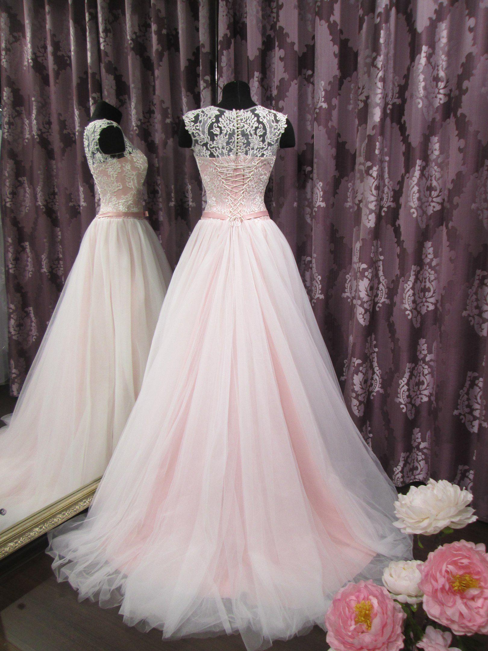 fdc6235f75d369c 🌸Трогательное свадебное платье нежно-розового цвета🌸 В наличии!!!  #свадебныйсалонпримавера#свадебныйсалон#свадьбаtmb#weddingtmb