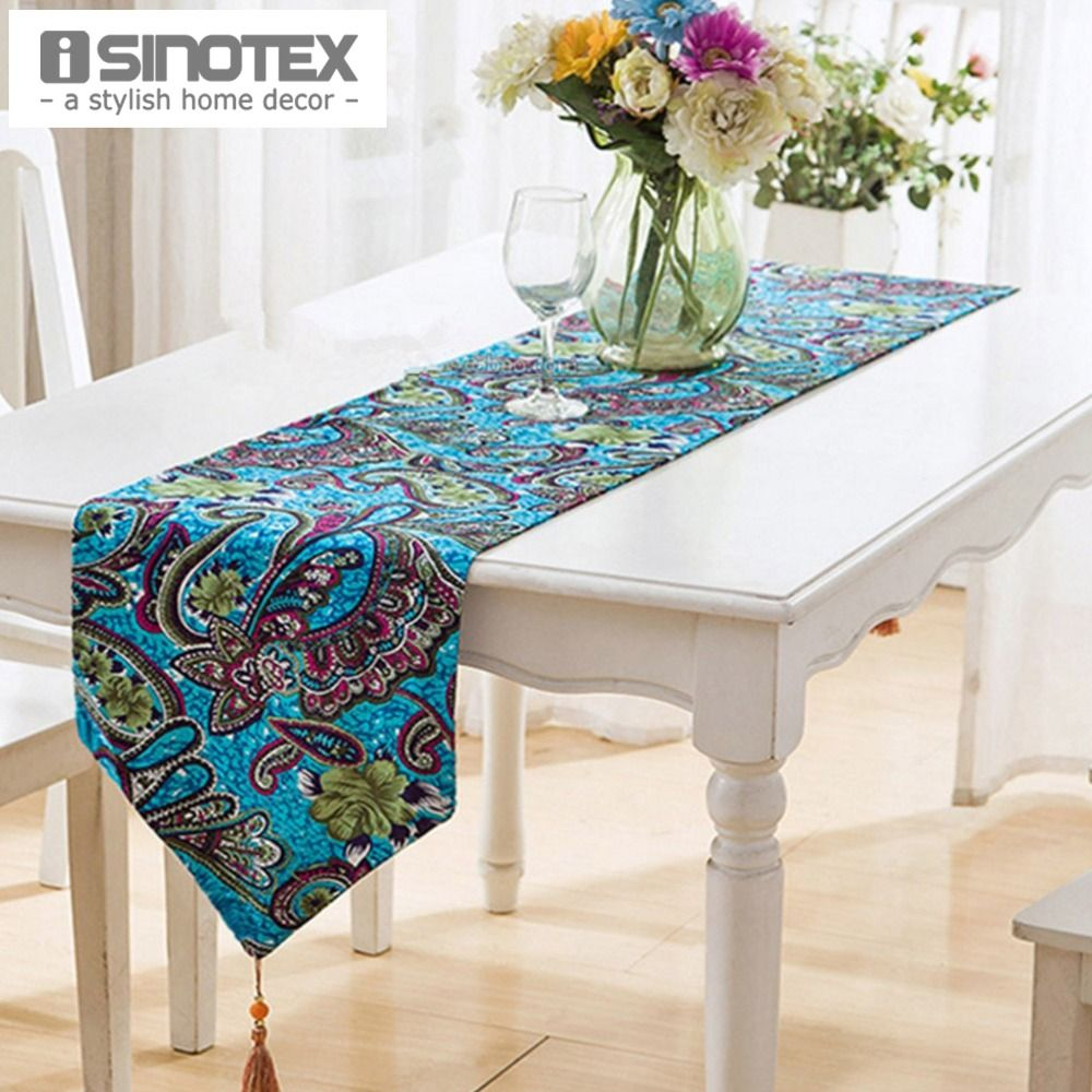 1Pcslot Linen&cotton Table Runner Flag Rustic Tablecloth Table Fair Dining Room Tablecloths Design Decoration