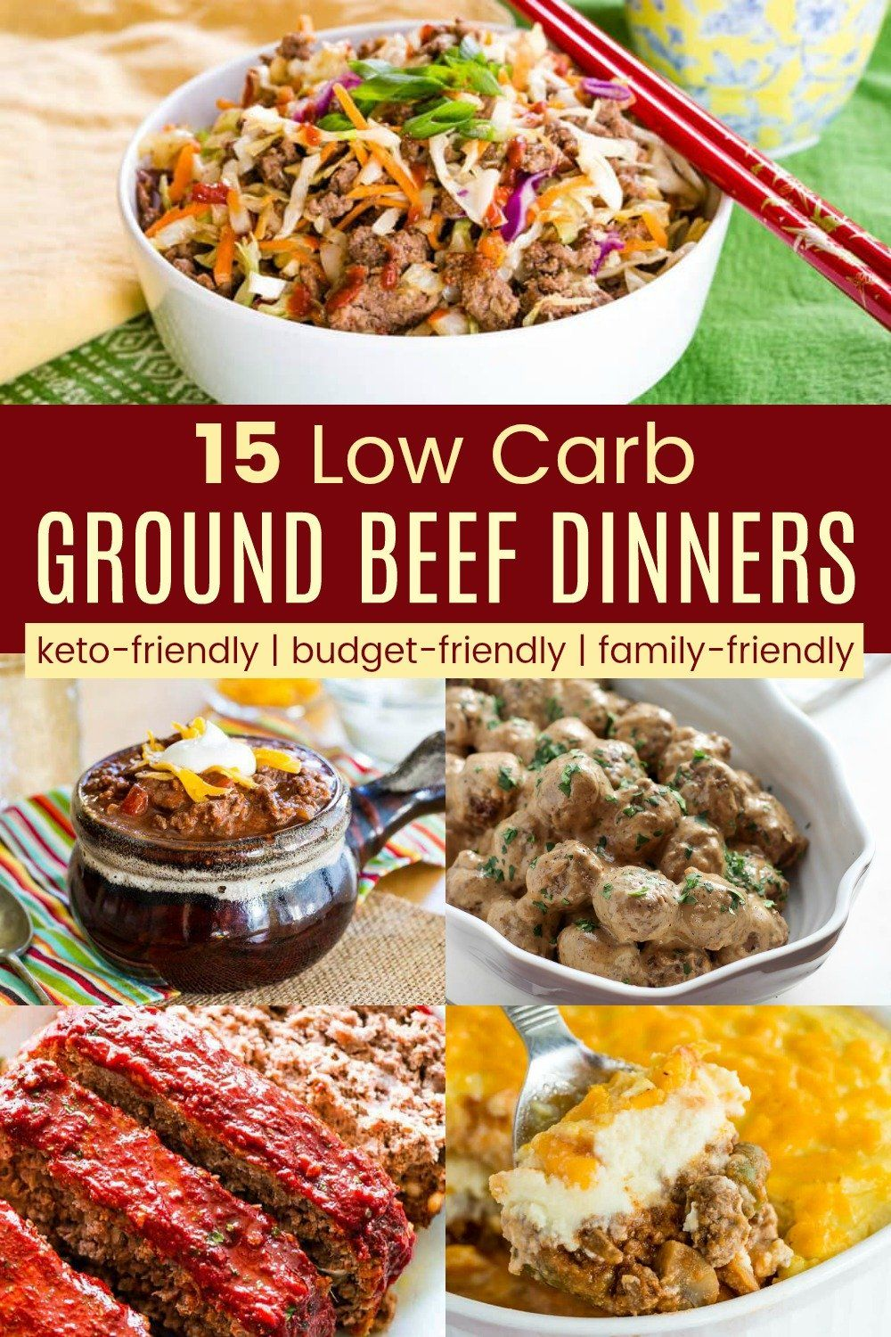 15 Best Low Carb Ground Beef Dinner Recipes Easy Ground Beef Meal Ideas In 2020 Dinner With Ground Beef Beef Dinner Beef Recipes For Dinner