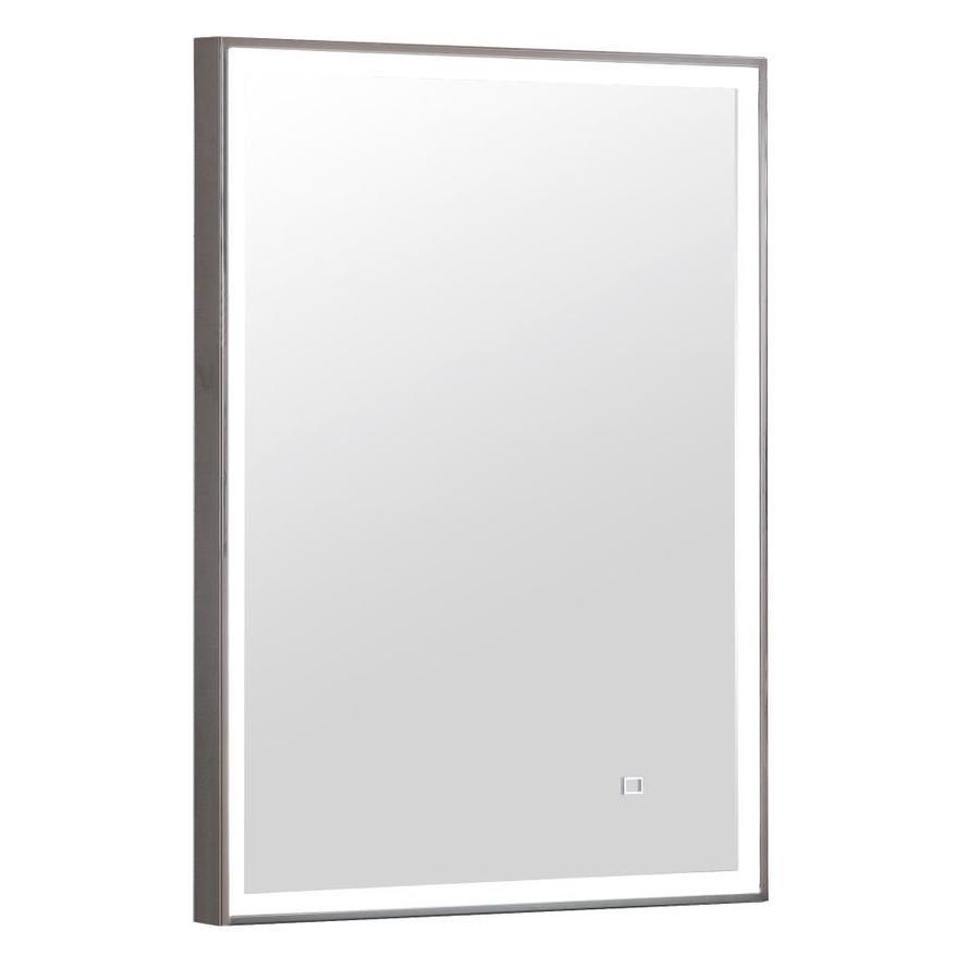 Avanity 22 In Stanless Steel Rectangular Lighted Led Bathroom