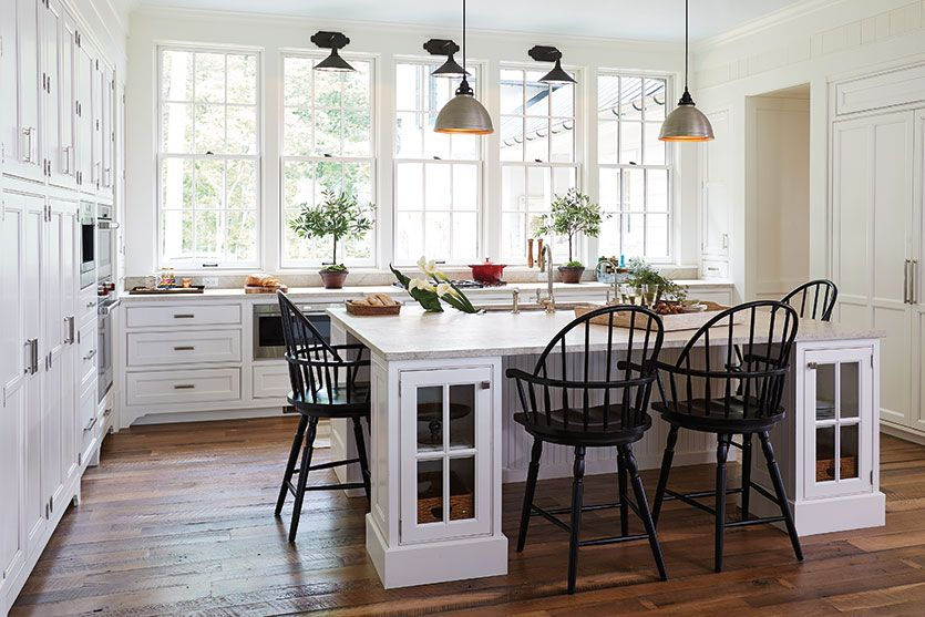 Our favorite thing about our windsor stools which bunny williams used in the southern living idea