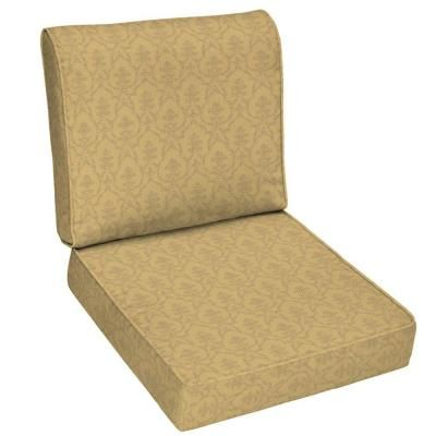 Patio Cushion Ideas   Hampton Bay Bellagio Outdoor Deep Seating Cushion    The Home Depot