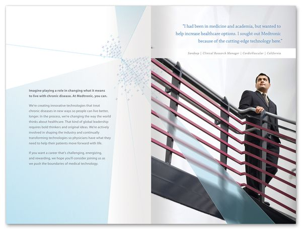 Medtronic Recruiting Brochure By Anthony Willow Via Behance Medtronic Recruitment Brochure