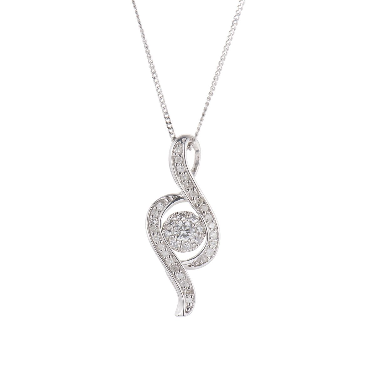 amazon cubic swirl com sterling pendant journey necklace jewelry silver dp zirconia