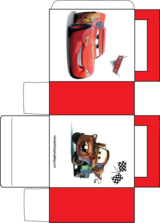 Disney Cars Goodie Box Printable Disney Cars Party