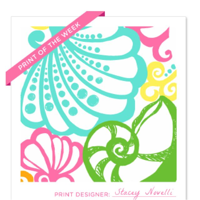 Lilly Pulitzer Prints... I LOVE Nautilus Shells! (With