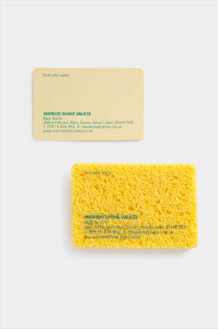 Mirror Shine Valets By Tayburn 2011 The Business Card Is A Piece Of Dry Sponge With W Fresh Business Cards Unique Business Cards Unique Business Cards Design
