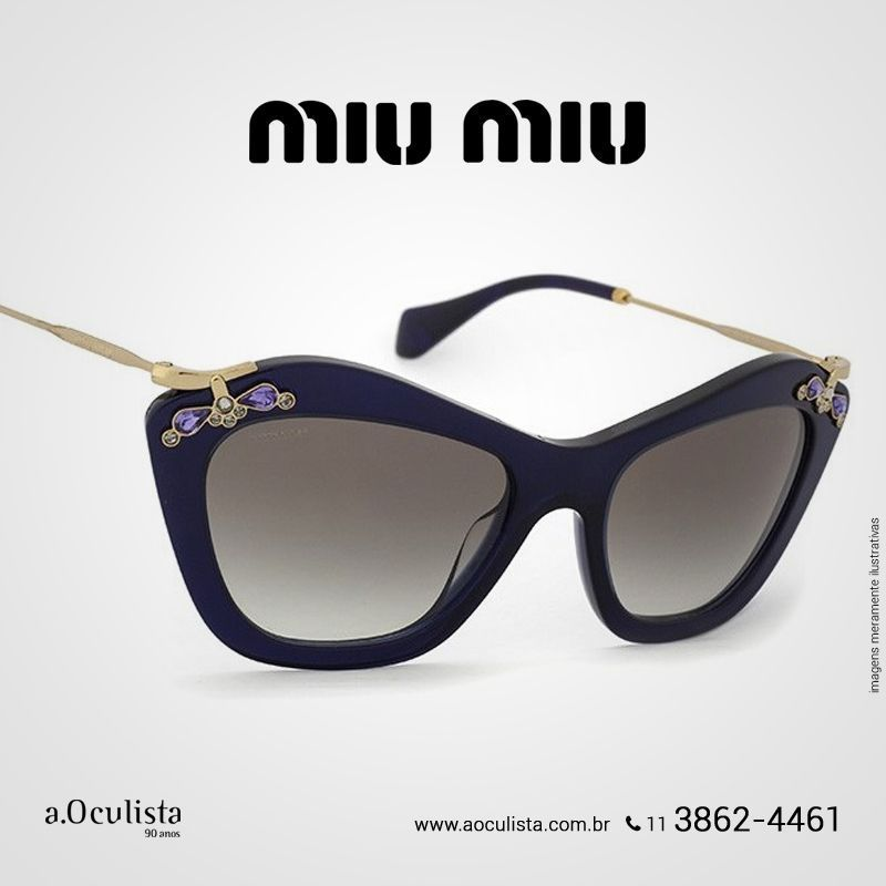 92b5a7fadabd1 Óculos de Sol Miu Miu Noir na a.Oculista. Compre pelo site em até ...