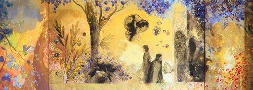 """Anochece. """"La Noche"""", Odilon Redon 1910."""