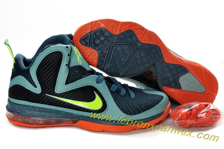 free shipping 750b1 749af Buy Lebron James 9 Shoes Cannon Volt Slate Blue Team Orange 469764 004 from  Reliable Lebron James 9 Shoes Cannon Volt Slate Blue Team Orange 469764 004  ...