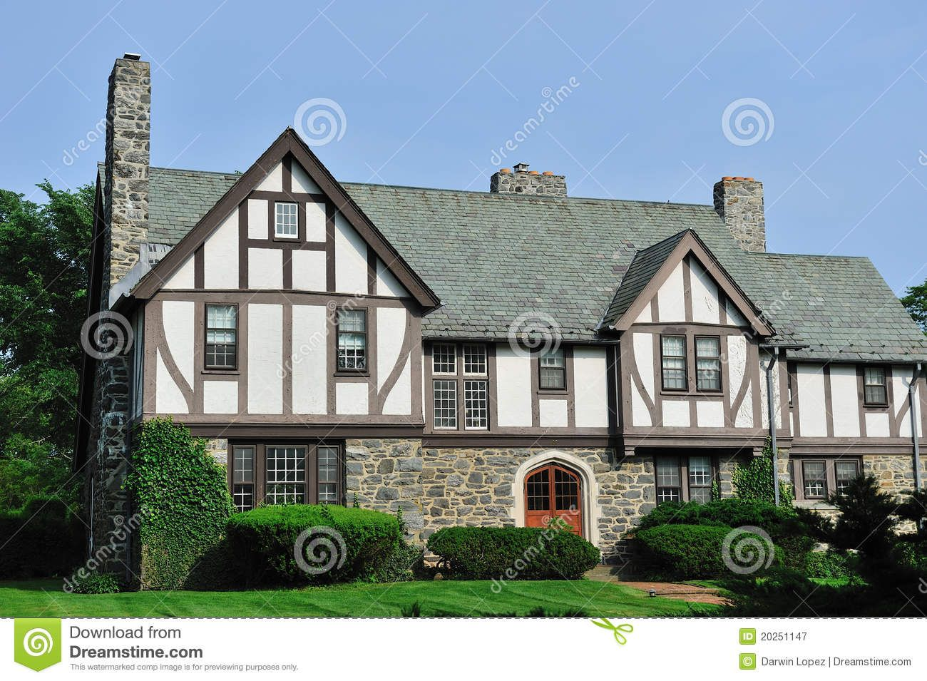 tudor homes pictures | Royalty Free Stock Photography: English Tudor house  exterior