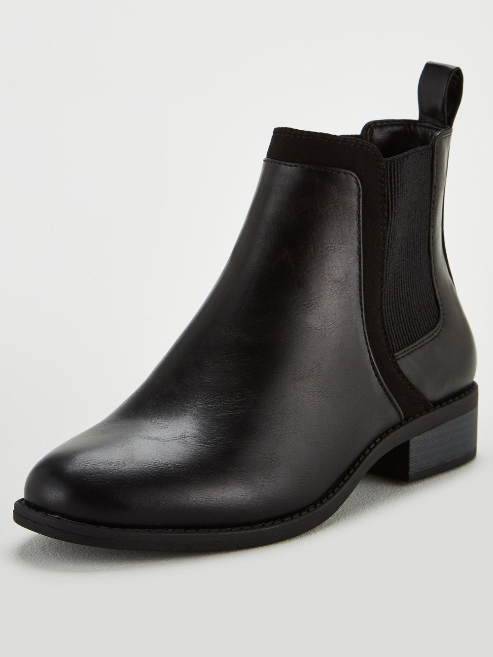 Wide Fit Frankie Flat Chelsea Boots