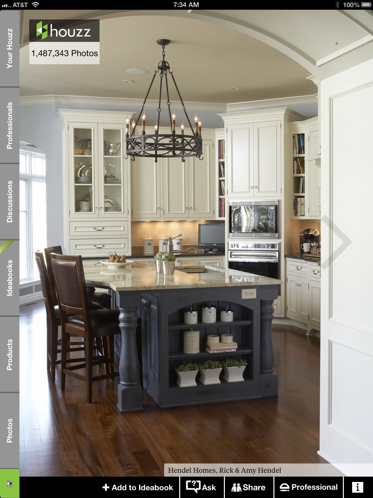This one right here is my dream kitchen white and blue colors I