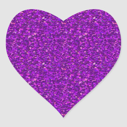 Glitter Purple Birthday Party Gold Jewel Diamond Heart Sticker Zazzle Com Glitter Stickers Glitter Hearts Purple Glitter