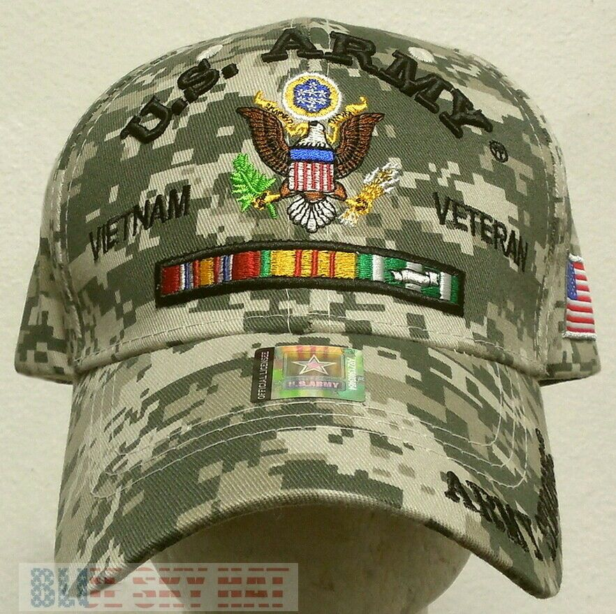 ARMY 75TH RANGER VIETNAM USA RIBBON EMBROIDERED PATCH  MILITARY HAT CAP