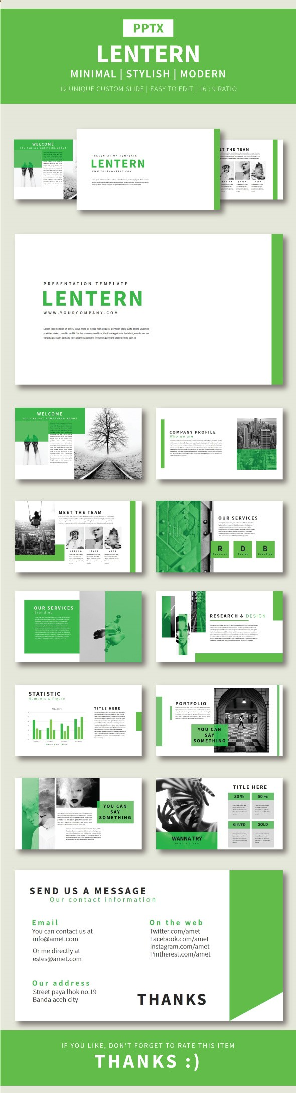 Lentern Pptx Template | Porters | Pinterest | Pagina web y Paisajismo