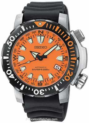 seiko men s automatic dive watch compass dial ring orange face seiko men s automatic dive watch compass dial ring orange face rubber snm037