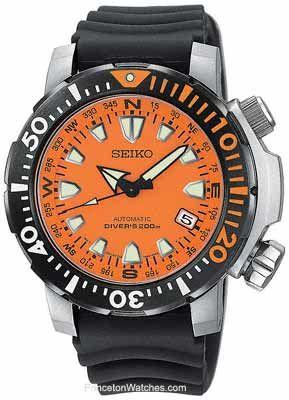 Seiko men 39 s automatic dive watch compass dial ring - Orange dive watch ...