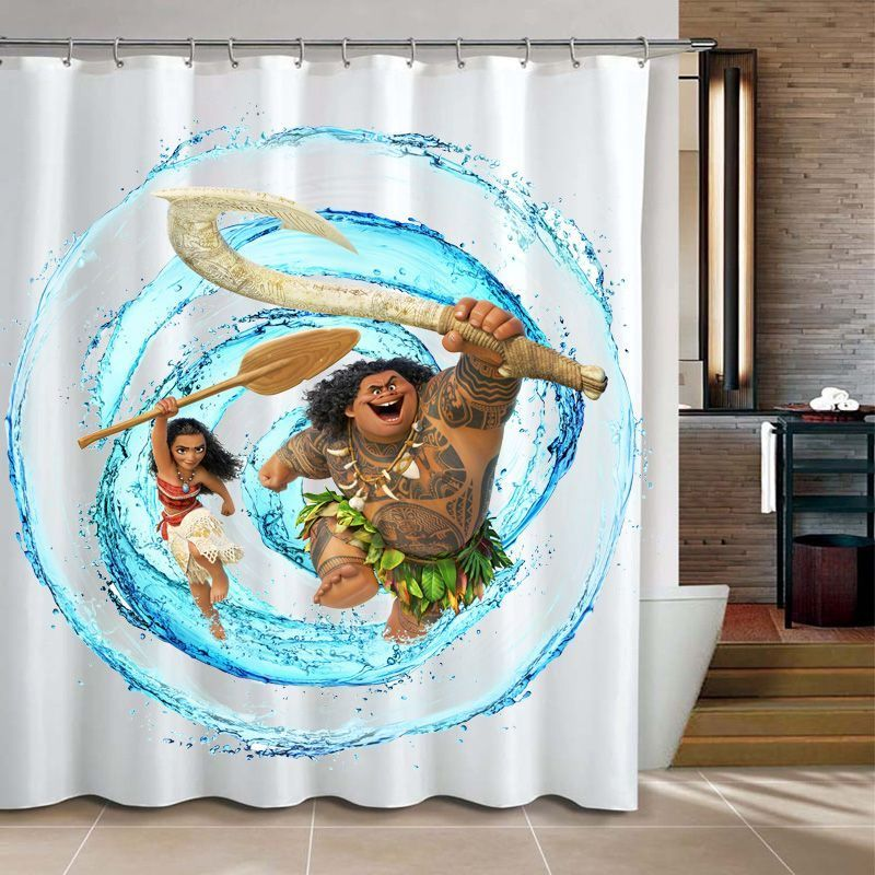Shower Curtain Moana At With Images Shower Curtain Curtains Personalized Shower Curtain