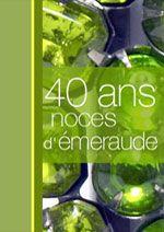 40 ans : noces de émeraude | Carte anniversaire de mariage, Noces, Noce d émeraude
