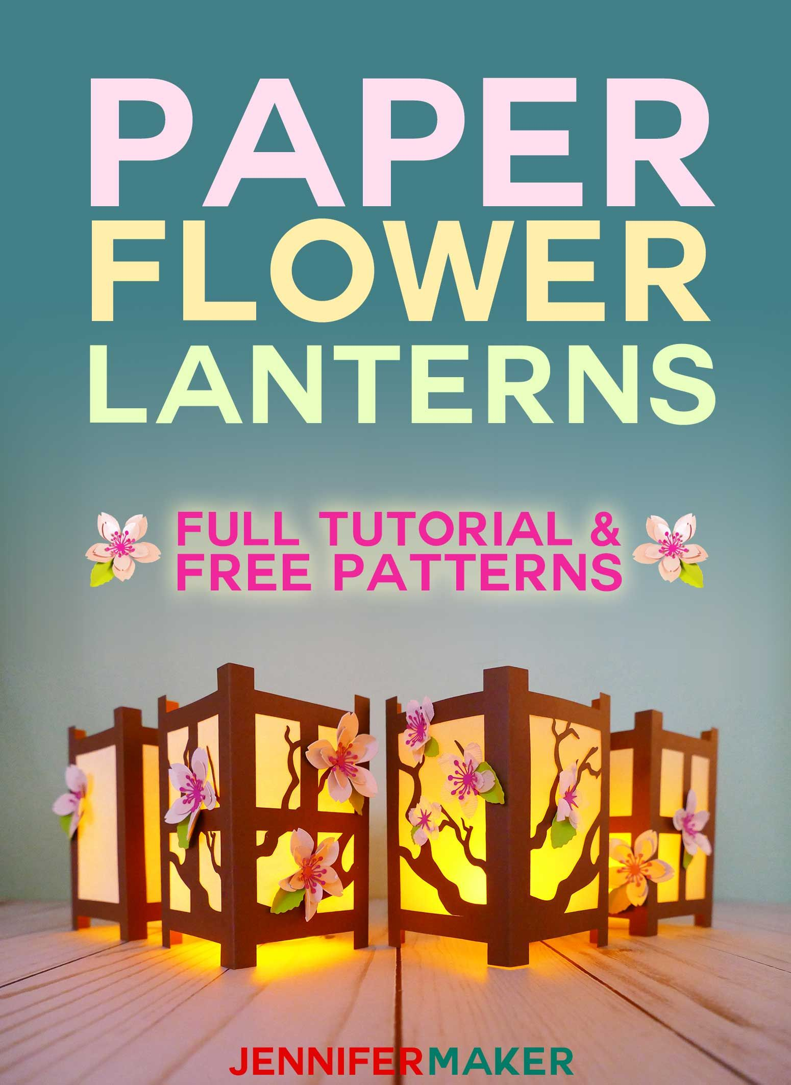 Japanese Paper Lanterns With Spring Flowers Crafts Ideas