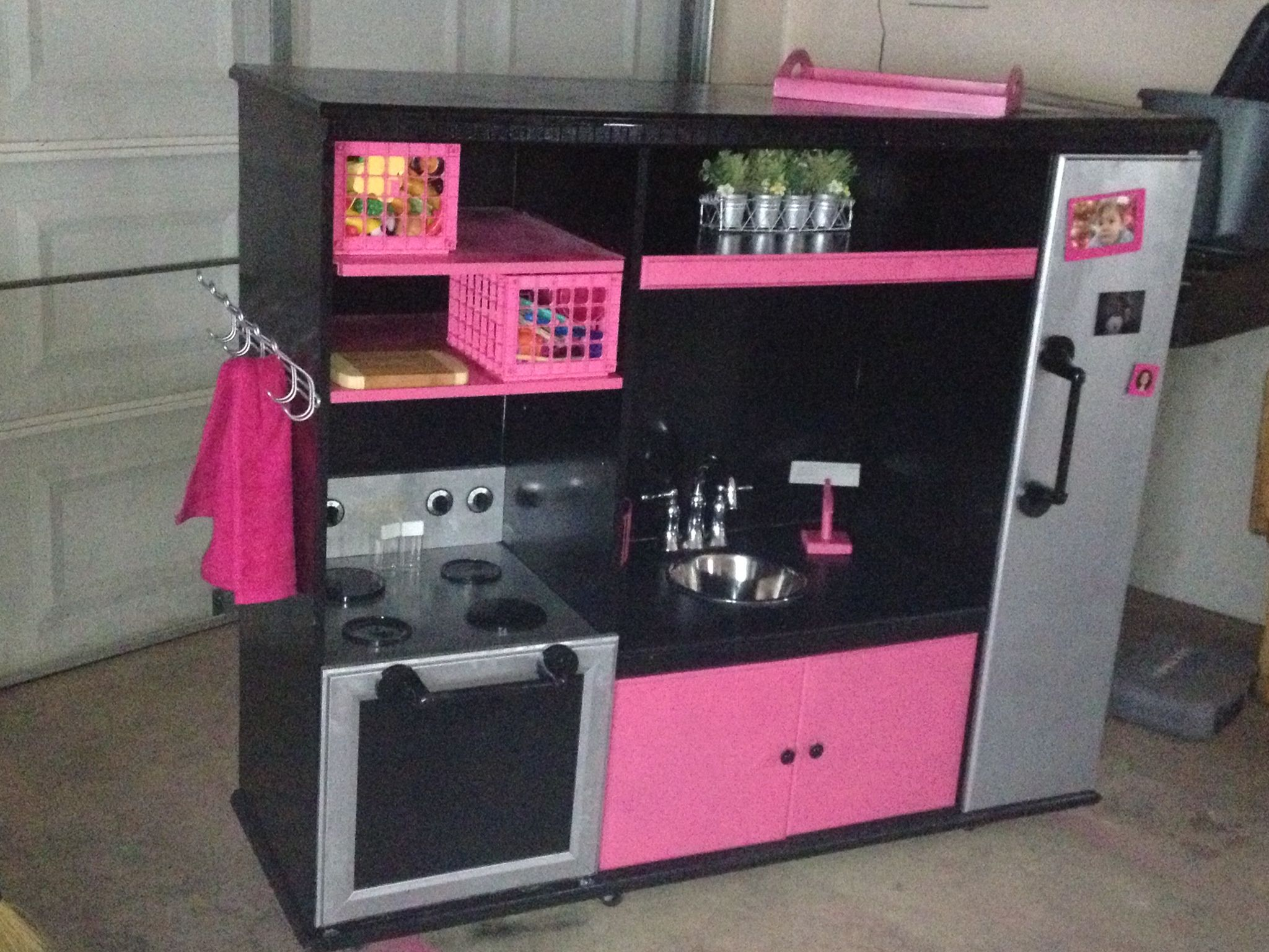 tasty home entertainment center ideas. Our DIY play kitchen out of an old entertainment center