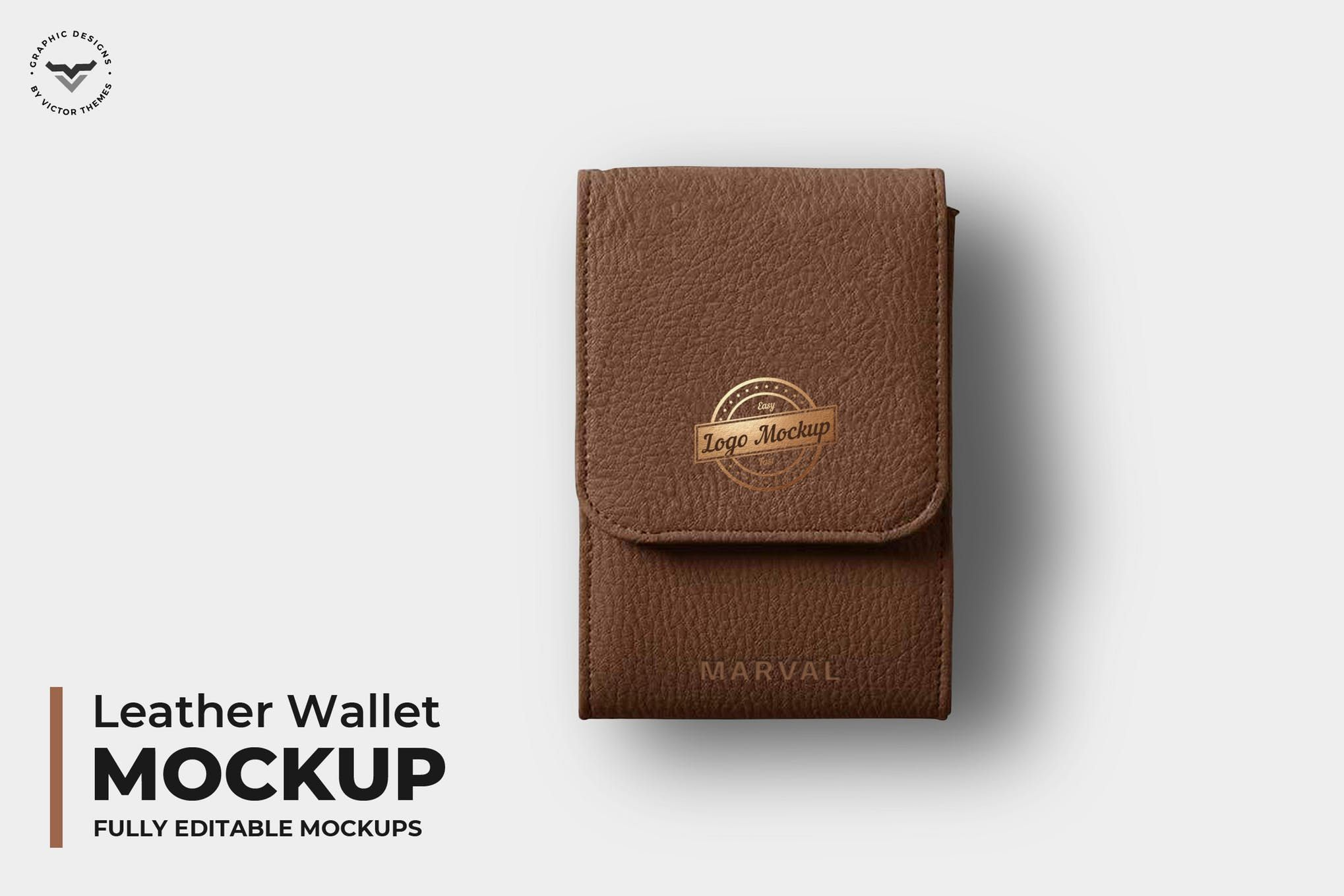 Leather Wallet Mockups By Victorthemes On Envato Elements Leather Wallet Wallet Leather
