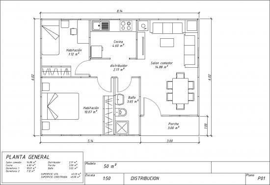 Casa prefabricada paneles 50m2 de la categoria casas - La casa prefabricada ...