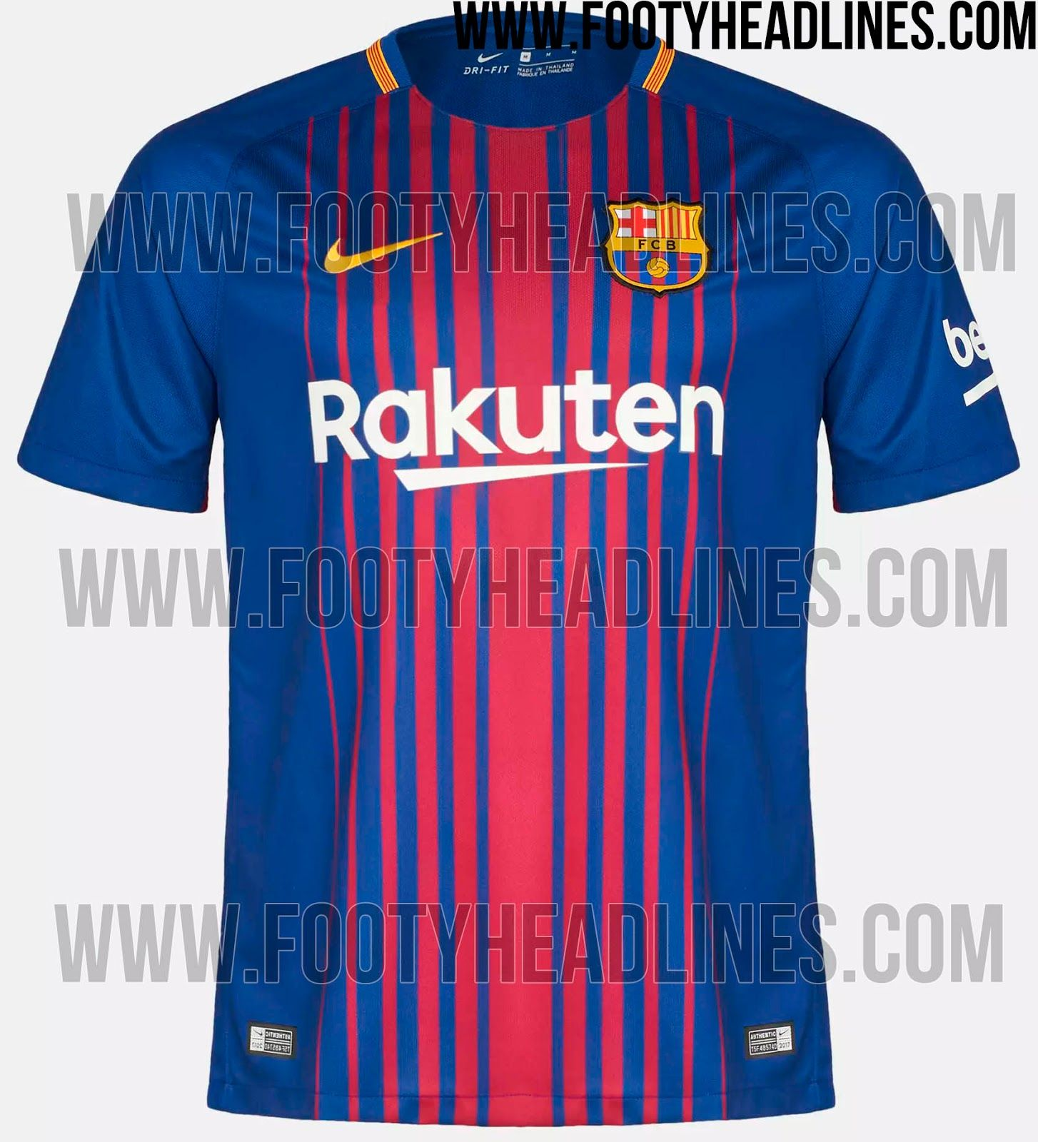 94397deb68d ... Soccer Jersey(Leaked Version) The Barcelona home kit introduces an  outstanding gradient stripe design. Made by Nike and featuring ...