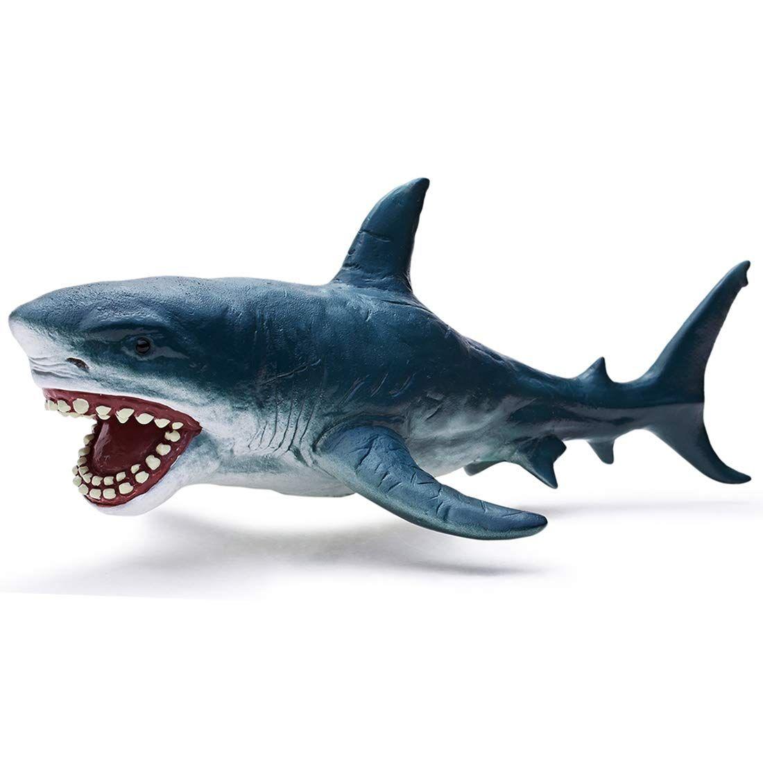 Recur Toys 10 2 Great White Shark Figure Toys Megladon Shark