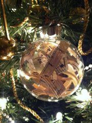 Music Themed Christmas Ornaments.Had A Blast Putting Strips Of Sheet Music In Clear Glass