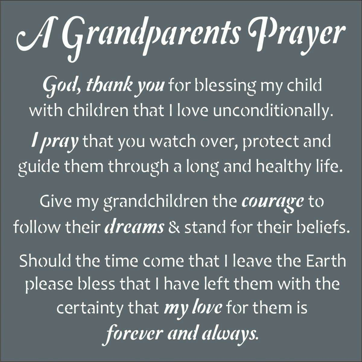 Who and how to pray for grandchildren