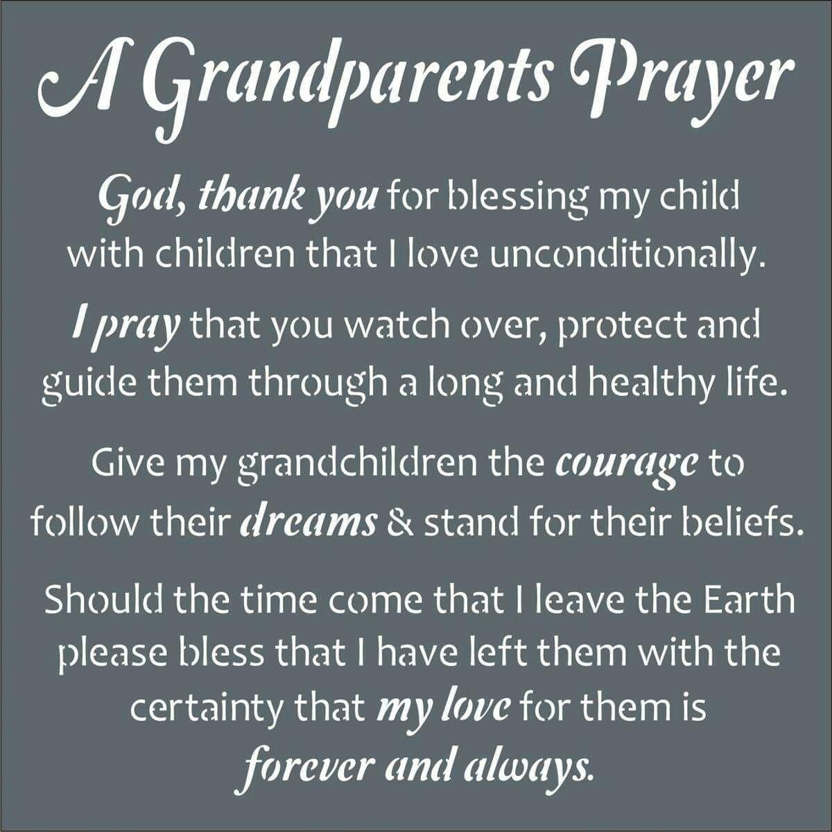 A Grandparent s Prayer