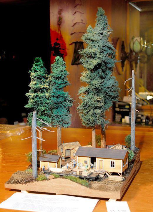 Jeff Johnston's Diorama | Log Cabin Diorama for C  | Diorama