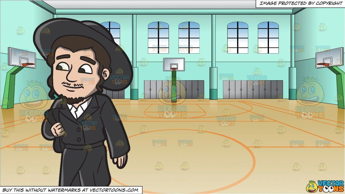 Printable A Jewish Man Walking In Traditional Wear And Indoor Basketball Court Background Basketballcour Indoor Basketball Indoor Basketball Court Jewish Men