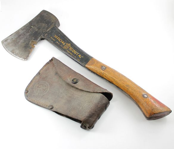 Bridgeport Boy Scout Hatchet Ax With Original Protective Cover