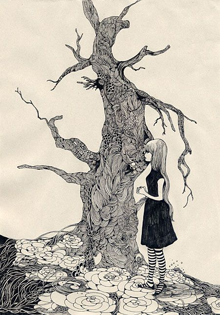 Pen And Indian Ink Drawings By Japanese Artist Midori