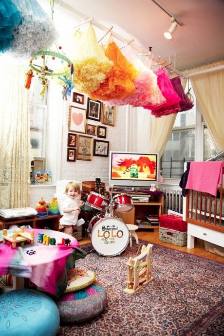 love the pettiskirts hanging!!!  If I ever have a daughter THIS is what our house would look like!