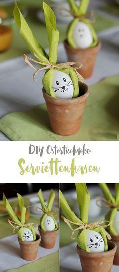 DIY Serviettenhasen - Osterdeko DIY #foldingnapkins