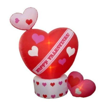 8 Airblown Inflatable Animated Hearts Lighted Valentines