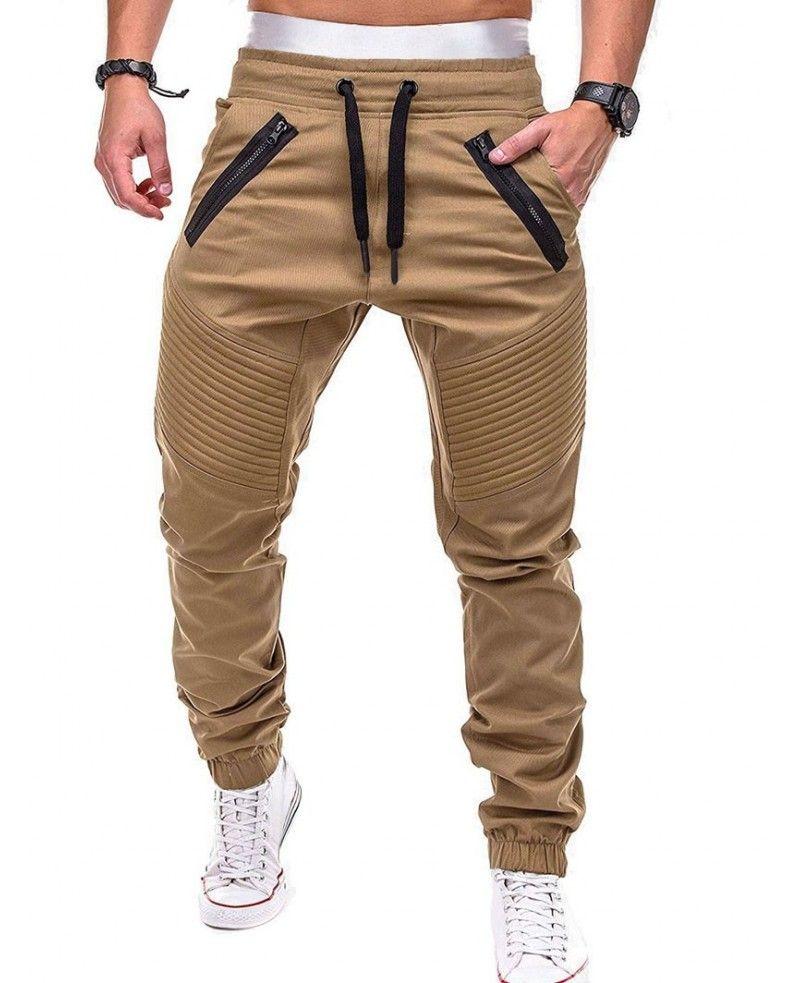 Mens Chino Trousers Slim Fit Cotton Stretch 100/%Cotton Pants Drawstring Bottoms