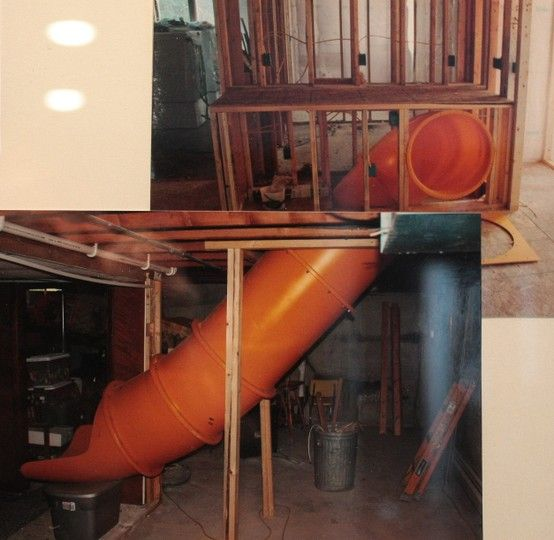 Cutaway Of Tube Slide From First Floor To