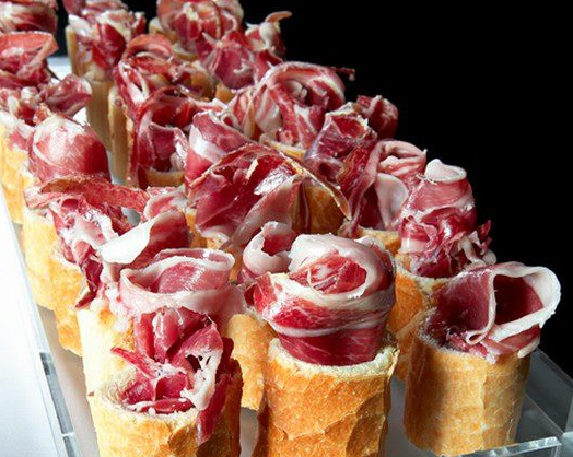 Decoracion platos jamon buscar con google jamon for Platos faciles para sorprender