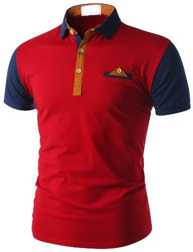 Trendykey Mens Short Sleeve Polo Shirt with Chest Pocket RED (XS) Trendykey  http  833354545e